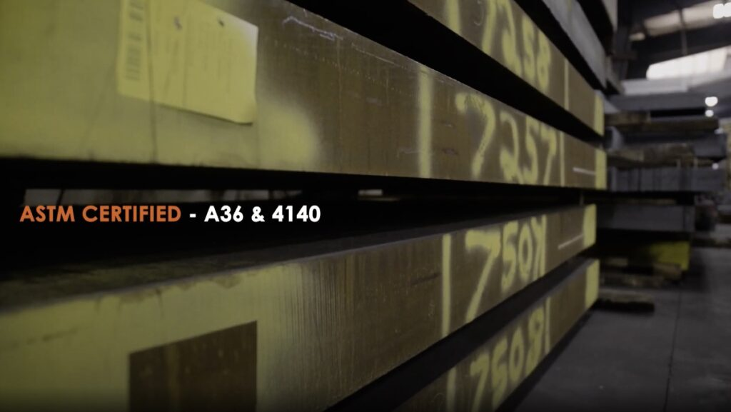 Steel 21 carries ASTM Certified A36 and 4140 Steel Plates (Hot Rolled Steel)